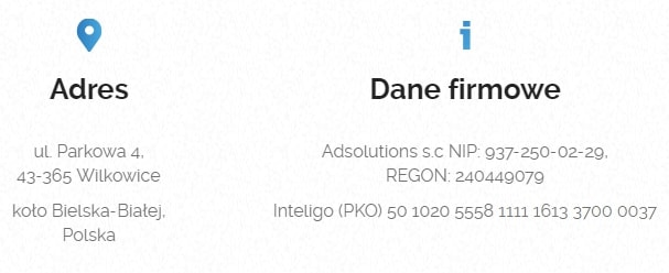 Dane kontaktowe Adsolutions